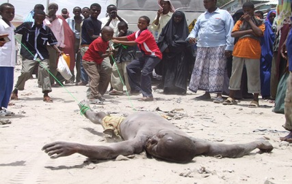 Peacekeeper's Bodies dragged in Mogadishu